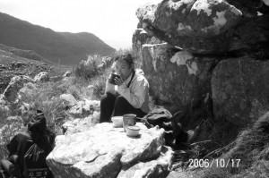 Mountain tea break. Table Mountain Treks and Tours. Hiking Trails.